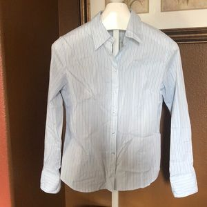 NWT express name brand striped button up L/S top